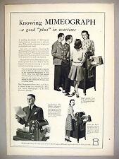 Mimeograph Duplicator Machine PRINT AD - 1943 ~ A.B. Dick Company