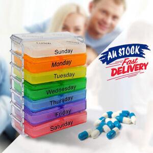Weekly 7 Day Pill Box Medicine Storage Tablet Container Case Organizer Dispenser