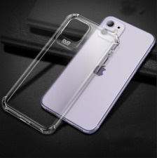 Shockproof iPhone 11 Clear Case Slim Silicone Cover with Screen Protector