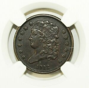 1832 NGC XF Details Classic Head Half Cent ☆☆ C-1 Environmental Damage ☆☆ 087