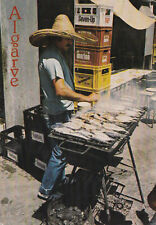 Cooking Fish in Algarve Portugal Postcard 1981 Seven - Up Crate