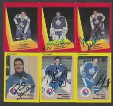 6 AHL Newmarket Saints Cards Auto Autograph Toronto Maple Leafs Farm Team