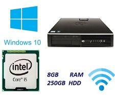 HP Elite 8200 Fast cheap Desktop Core i5 8GB 250GB HDD Windows 10 PC