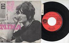 MINA in FRANCESE disco 45 giri MADE in FRANCE  MOI JE TE REGARDE + SI 1969