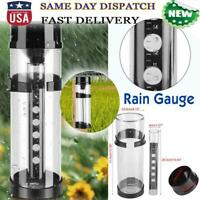 Easy Read Cylinder Water Rain Gauge Raining Rainfall Measure Tool Garden Farming