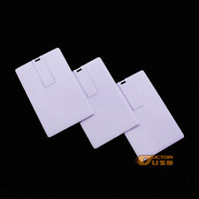 Credit Card Blank White Flash USB 2.0 Drive Genuine 2GB Memory Sticks Pendrives