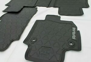 TOYOTA RAV4 RUBBER FLOOR MAT SET AUTOMATIC FROM JAN 2019 NEW GENUINE ACCESSORY