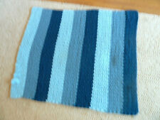 "Three Shades of Blue Hand Crocheted Afghan 46"" x 38"""
