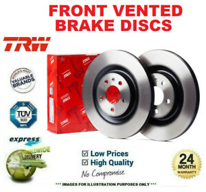 Front Axle VENTED BRAKE DISCS for BMW 3 Convertible (E30) 325 i 1987-1993 260mm