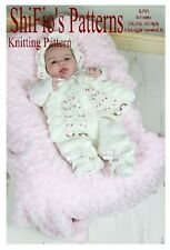 KNITTING PATTERN for BABY MATINEE JACKET, TROUSERS, & HAT #45 NOT CLOTHES