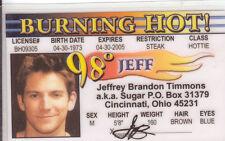 98 degrees Jeffrey JEFF Brandon Timmons SUGAR Cincinnati Ohio OH Drivers License