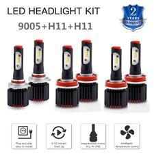 For Ford Taurus 2008-2009 Taurus X 6x H11 9005 LED Headlight & Fog Light Bulbs