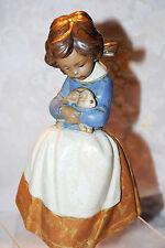 "Lladro ""Tenderness"" #2094 Figurine Girl Holding Bunny Spain Valencia"