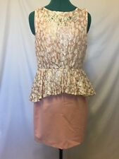 Tokito peplum special occasions pink and cream size 14