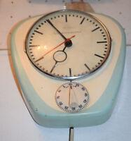 50er 60er Peweta Elektrik Küchenuhr Kurzzeitmesser Wanduhr Elektrowerk clock
