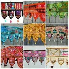 Indian Vintage Door Decor Wall Hanging Curtain Patchwork Embroidered Tapestries