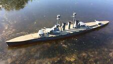 "59"" WARSHIP BOAT HULL - 1/144 scale WWI Kongō Battleship RC COMBAT USA MADE !"