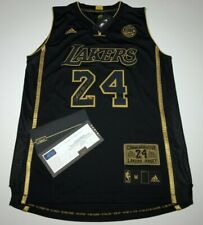 Kobe Bryant Signed Black Mamba Adidas Final Game Basketball Jersey Panini