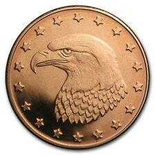 1/4 oz 999 Kupfer Copper Medaille Adler Kopf Eagle Head USA Weisskopfadler