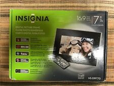 "Insignia 7"" Digital Picture Frame LCD Wide Screen 1 GB Storage 16:9 Format New"
