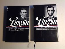 Lincoln: Speeches And Writings, 2 Volume Set,In Slipcase, Fine Conditiion