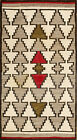 """Antique American Navajo 5'2"""" x 2'9"""""""
