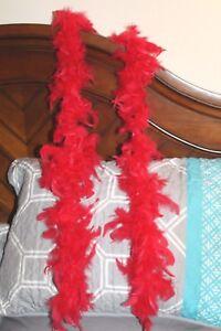 Red Feather Boa  20's Flapper Cabaret Bachelorette