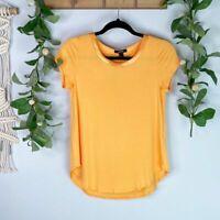 Women's ALFANI Satin-Trim High-Low T-Shirt in Mandarin Size XS