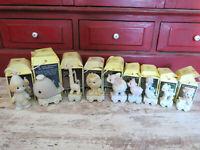 PRECIOUS MOMENTS Happy Birthday Train New Baby Clown 1 2 3 4 5 6 & 10 w boxes
