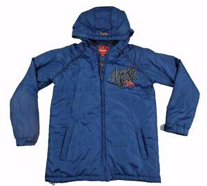 Mens Blue Airwalk Zip Up Jacket Skater Large Streetwear Large Warm Parka L