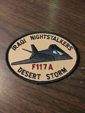 "US Army Desert Storm F117A Iraqi Night stalkers 3"" x 4"" Patch"
