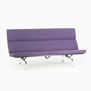 2006 Herman Miller Ray and Charles Eames Sofa Compact Purple Fabric Upholstery