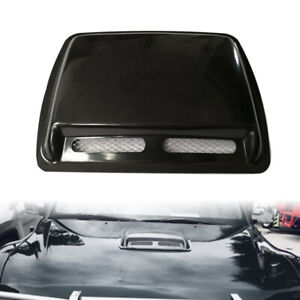 Car Universal Engine Hood Air Flow Inlet Vent Cool Auto Front Grille Cover Black