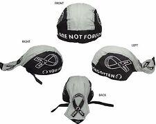 POW MIA POWMIA Ribbon not Forgotten Do Rag Doo Rag Skull Cap Head Wrap Black