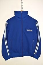 vtg 70s ADIDAS OLDSCHOOL CASUALS RETRO TRACK JACKET TRACKSUIT TOP SIZE D48 SMALL