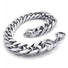 Stainless Steel Tera Wide Link Men's Bracelet