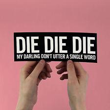 """The Misfits Sticker! """"Die Die My Darling"""" glenn danzig, static age, horror punk"""