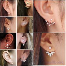 1 Pair Stylish Women Lady Elegant Crystal Rhinestone Ear Stud Earrings Charming