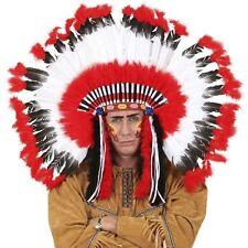 XL Indianer Kopfschmuck Weißer Wolf Karneval Fasching Hut  Kopfbedeckung #4141