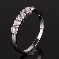 Promising 18k white gold filled amazing white sapphire ring Sz4.5/I-Sz8.5/Q1/2