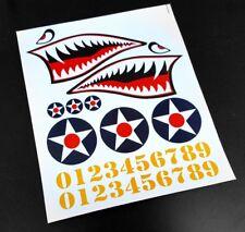 1/10, 1/8 RC FLYING SHARK foglio adesivo, per il Corpo Shell, Drift Auto Decalcomanie