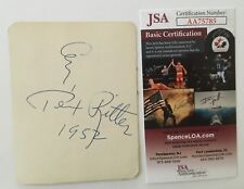 Tex Ritter Signed Autographed 3.5 x 4.5 Card JSA Certified