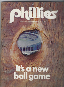 1970 Phillies Yearbook & Program 1st Day New Stadium W/ 8x10 Connie Mack Photo