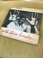 Randy Weston Trio; With These Hands; Riverside 12-214; DG; White lbl, OG mono