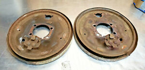 78-81 TOYOTA CELICA GT ST REAR BRAKE DRUM BACKING PLATE AXLE SEAL PARKING OEM