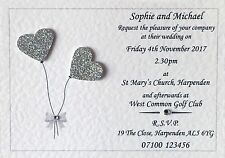 50 Handmade Personalised Wedding Invitations Day / Evening Invites Inc Envelopes