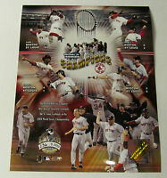 BOSTON RED SOX SERIAL# 2004 WORLD SERIES 8X10 PHOTO LICENSED  *VERY RARE *