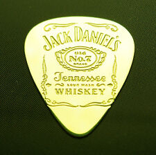 JACK DANIELS - Solid Brass Guitar Pick, Acoustic, Electric, Bass