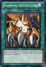 3x Yugioh SDBE-EN022 Stamping Destruction Common Card