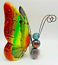 Table Top Butterfly Solar Light Gold Green Red Outdoors by Design New